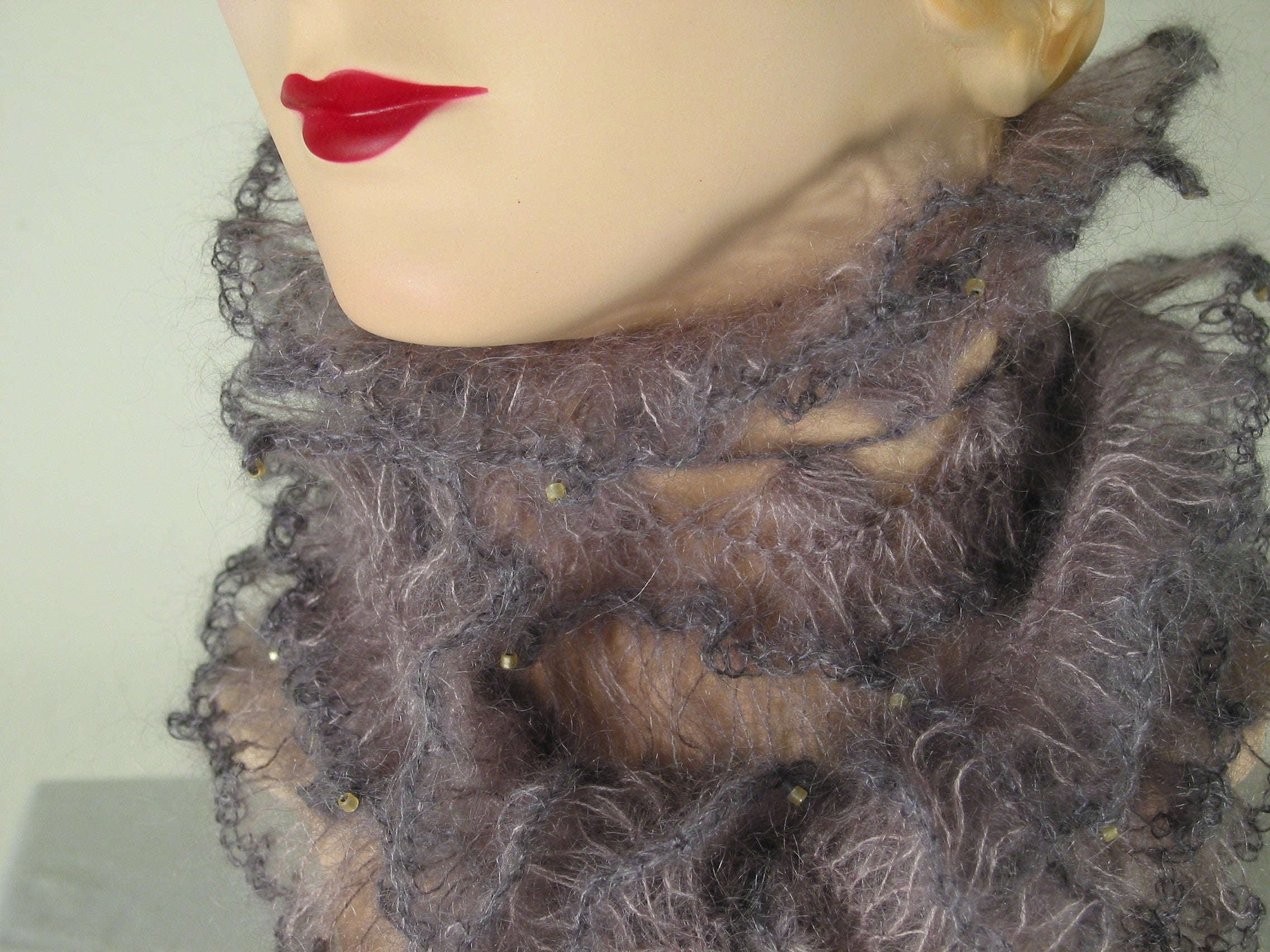 Nudibranch Ruff Scarf - Hand Crocheted