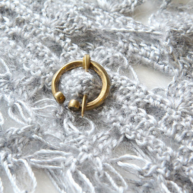 Tiny Penannular Shawl Pin