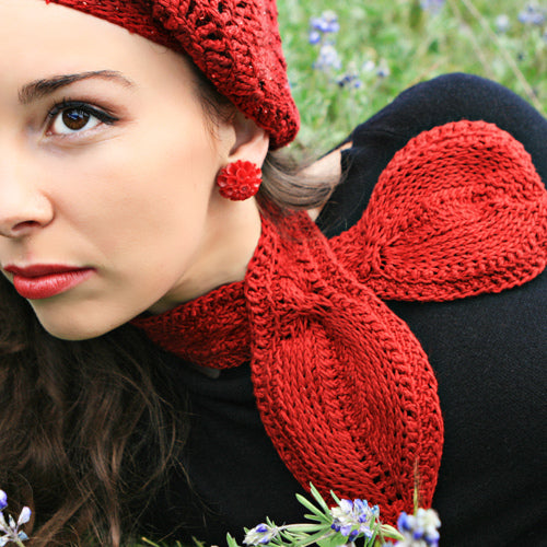Tunisian Keyhole Cravat - Hand Crocheted