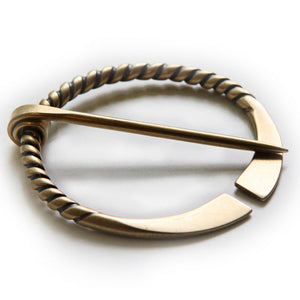 Twisted Penannular Shawl Pin (Bronze)