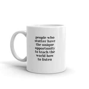 People who stutter - Mug