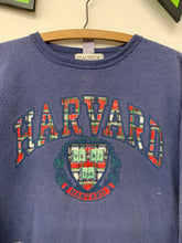 Load image into Gallery viewer, 90s Harvard University plaid sweatshirt size Small