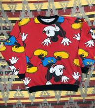 Load image into Gallery viewer, Vintage 90s Mickey All over print crew size M
