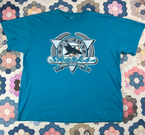 Vintage 90s San Jose Sharks shirt size XL