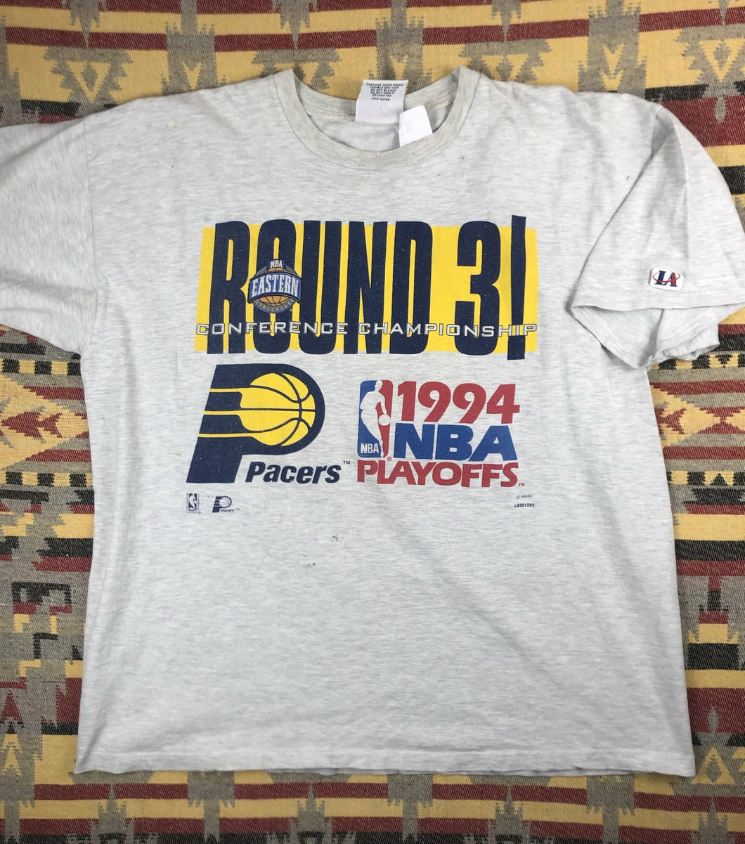 Vintage 1994 Indians Pacers NBA Playoffs shirt size XL