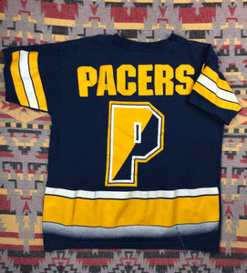 Vintage 90s Indiana Pacers all over print shirt size L