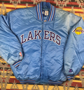 Vintage Starter LA Lakers Satin jacket size 2XL