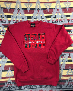 Vintage 90s Ohio State University college crew size L