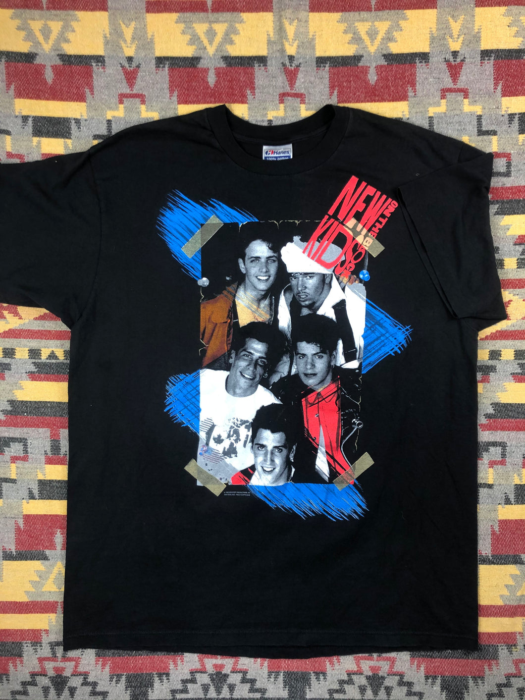 Vintage 1990 new Kids On The Block band shirt size XL