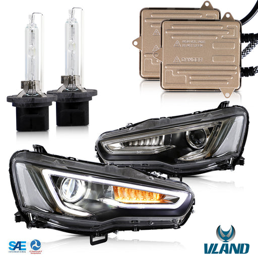 Mitsubishi Lancer EVO Headlights and Bulbs