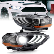 Load image into Gallery viewer, VLAND Full LED and Dual Beam Projector Headlights Assembly for Ford Mustang 2018 2019 2020 with Sequential and Dynamic Animation Headlamp