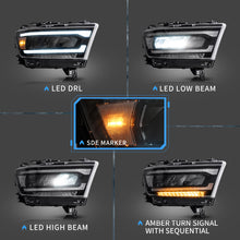 Load image into Gallery viewer, VLAND Matrix Projector and Full LED Headlights for Dodge Ram 2019-UP (Pre-sale Product. Matrix Projector and Full LED Styles to Choose)