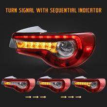 Load image into Gallery viewer, VLAND Set of Dual Beam Projector Headlights and Full LED Tail Lights for Toyota 86 GT86 2012-2020 Subaru BRZ 2013-2020 Scion FR-S 2013-2020 (LHD and RHD Editions on Headlights. Red Clear and Smoked Styles on Tail Lights)