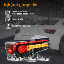 Load image into Gallery viewer, VLAND Full LED Tail Lights for Toyota 86 GT86 2012-2020 Subaru BRZ 2013-2020 Scion FR-S 2013-2020 (Red Clear and Smoked Styles w/ Sequential Turn Signals.)