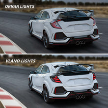 Load image into Gallery viewer, VLAND Full LED Tail Lights Smoked for Honda Civic Hatchback and Type R 2017-UP (Dynamic Welcome Lighting w/ Sequential Turn Signals)