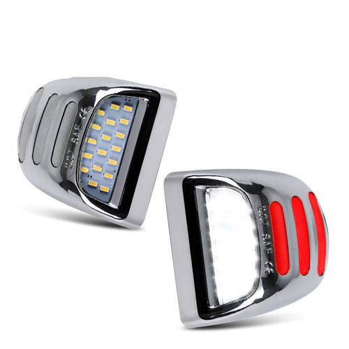 Cadillac, Chevrolet & GMC License Plate Light Chrome