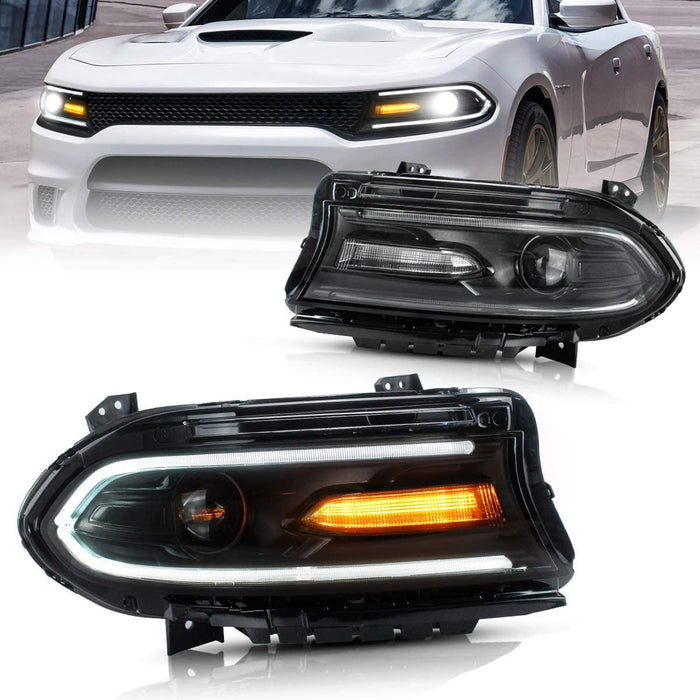Charger headlight assembly