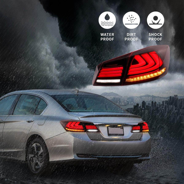 Honda Accord Full LED Sequential Tail Lights Waterproof
