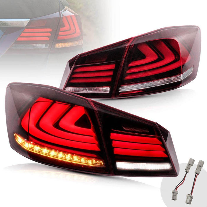 Honda Accord Red Clear Tail Lights