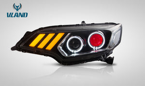 VLAND Projector Headlights for Honda Fit / Jazz (GK5) 2014-2020 (Demon Eye and Regular Projector. Right Hand Driver Side)