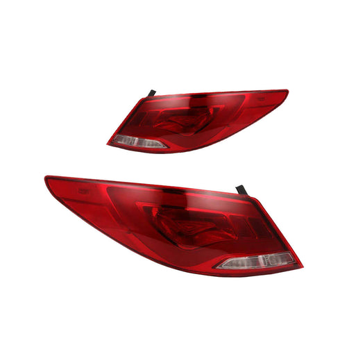 Hyundai Accent Tail Lights Red Clear