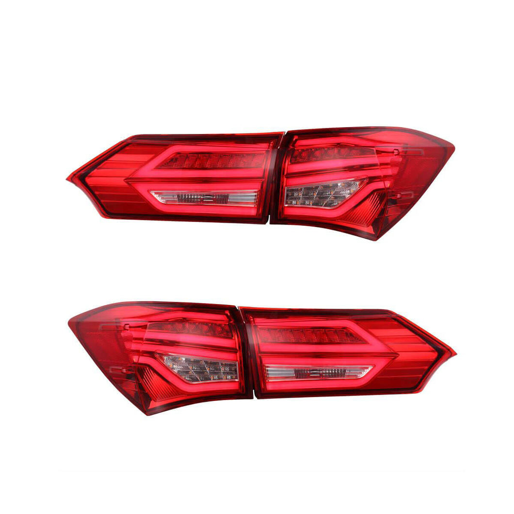 Toyota Corolla Tail Lights Red Clear