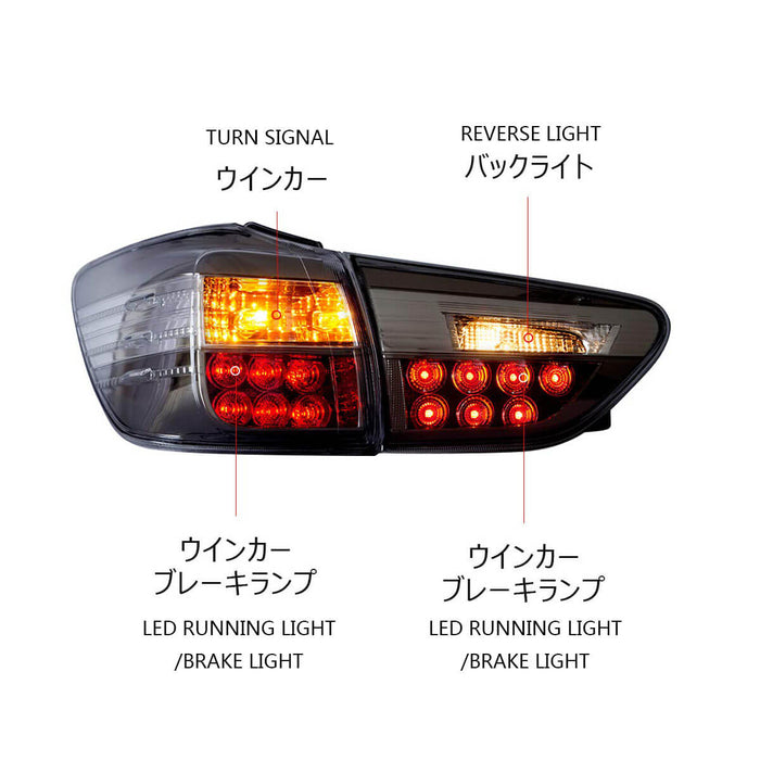 Toyota Wish Tail Lamp Light On