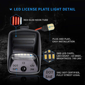 rear license plate light