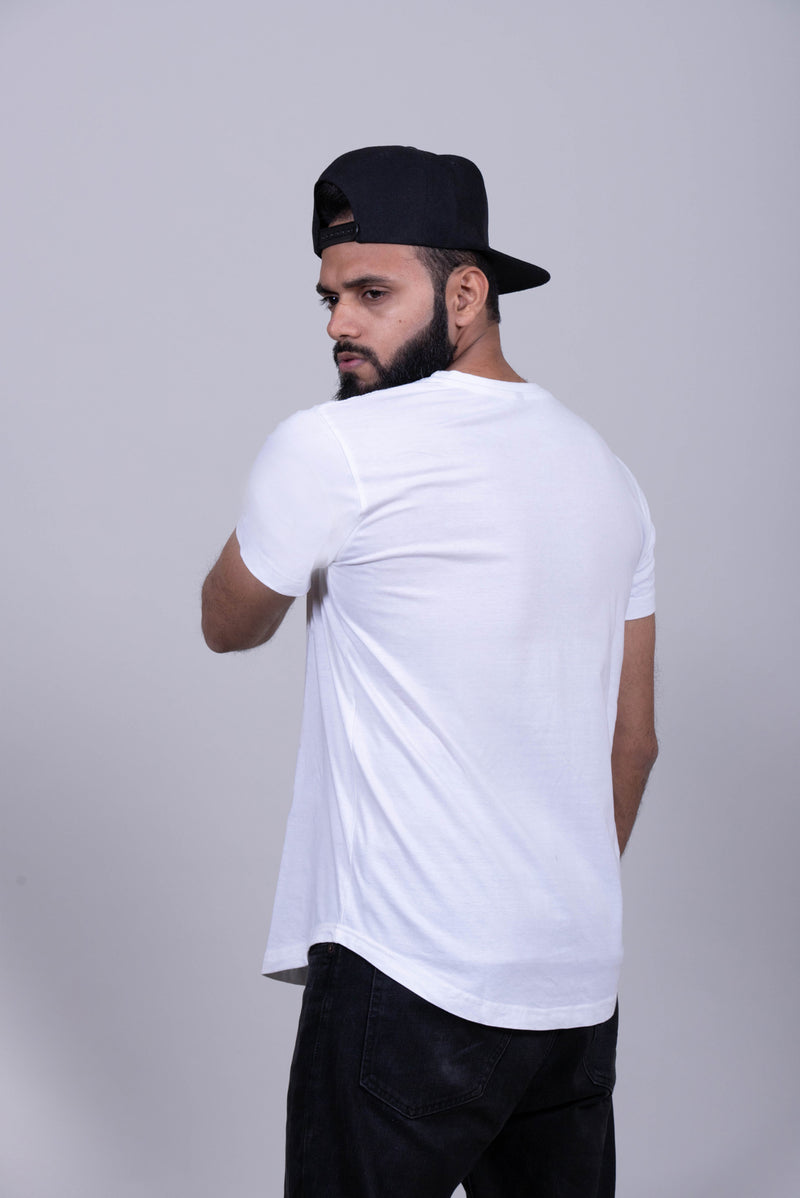 Plain White Round Cut T-shirt