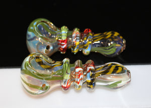 "3 1/2"" TIGER'S TAIL Glass Pipe"