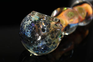 "4 1/2"" GOLD NEBULA Fumed Tobacco Smoking Glass Pipe THICK GLASS"