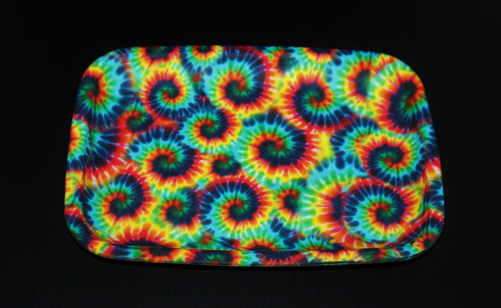 "6"" X 8"" PREMIUM ROLLING TRAY SILICONE TIE DYE Rolling Tray Glass Pipe Friendly"