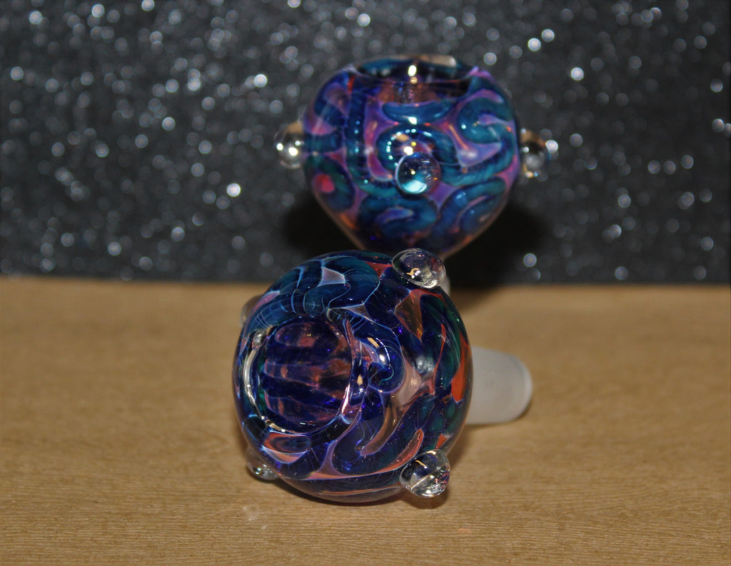 14mm SMOKE SIGNALS II Glass Slide Bowl Glass Water Pipe slide bowl 14 mm male