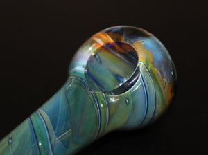 "4"" OCEAN TONES GLASS Smoking Pipe"