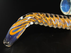 "4"" UNICORN STEM SHERLOCK - ORANGE One Hit Glass Pipe"