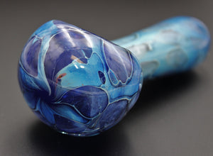 "4 1/2"" SHADES OF AQUA TEAL Glass Pipe"