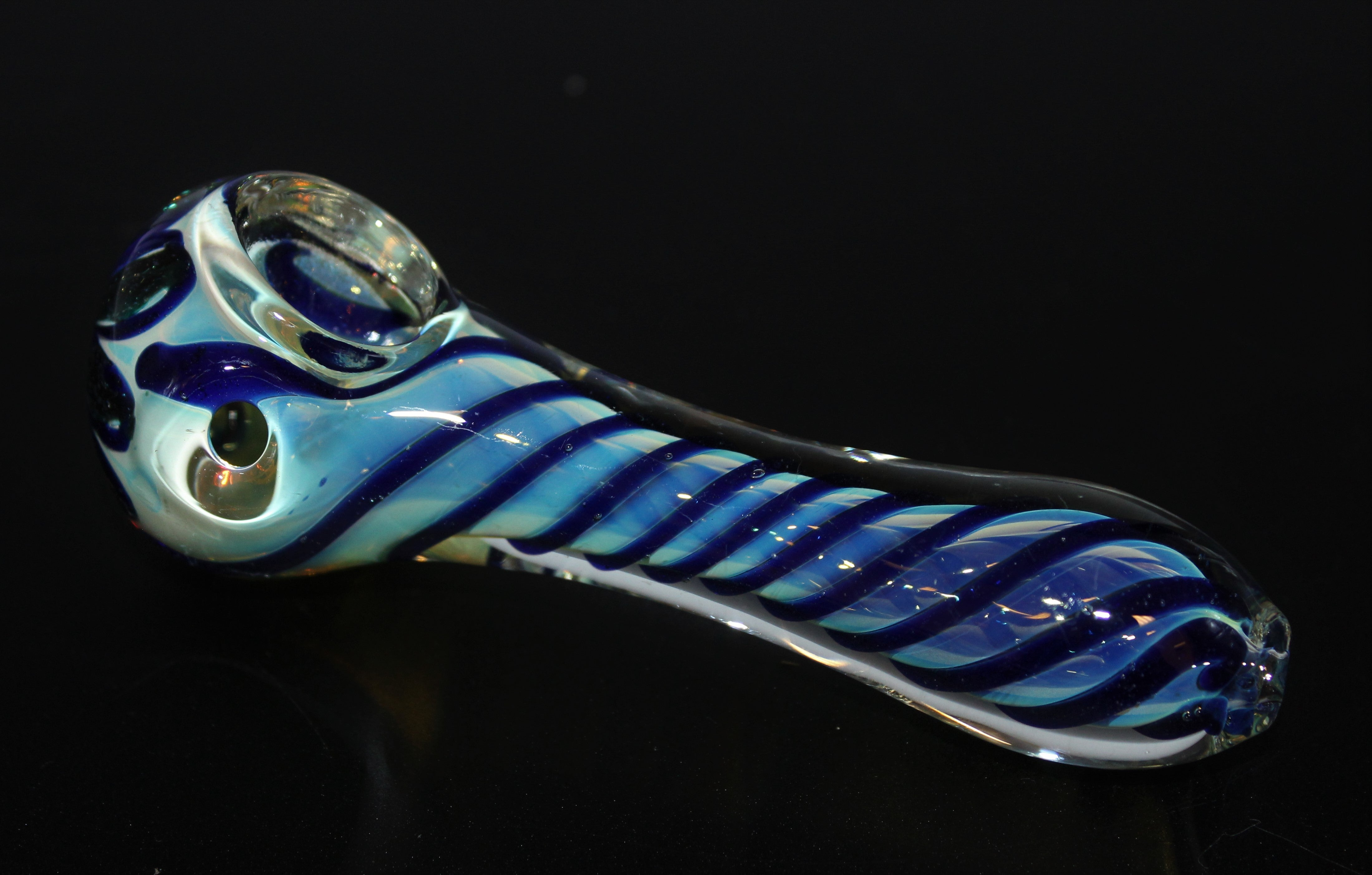 "4 1/2"" BLUE MOON FLYER Glass Pipe"