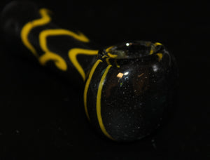 "4"" BUMBLE BEE FRIT Glass Pipe"