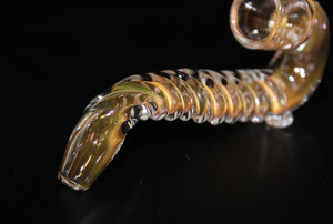 "4"" GOLD FUMED UNICORN SHERLOCK One Hitter"