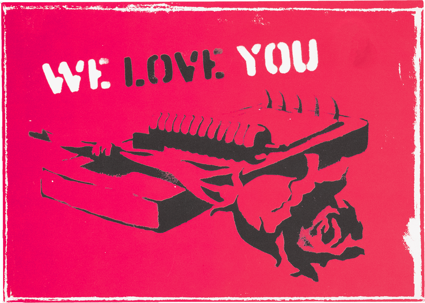 We Love You Postcard