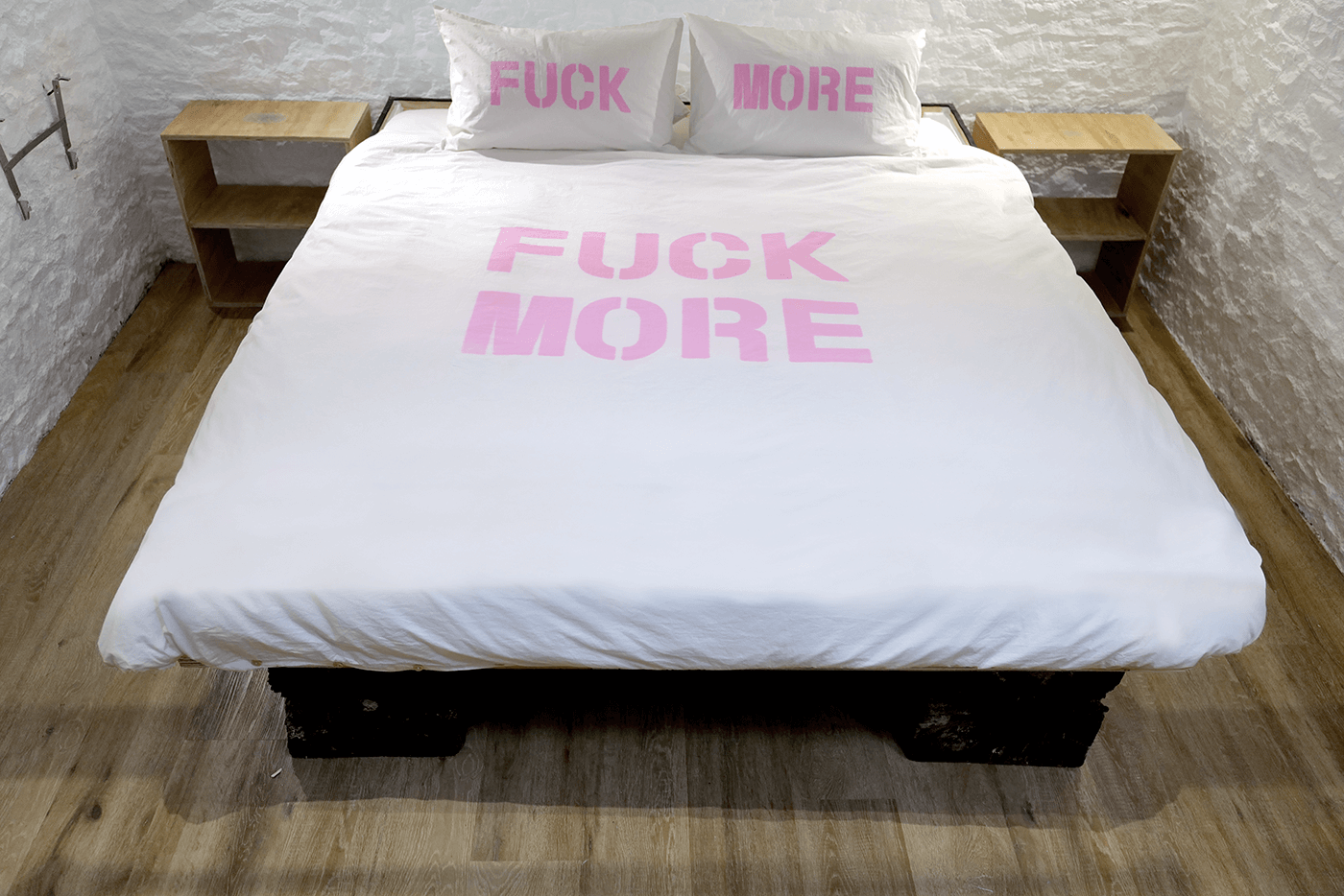 Fuck More/Fuck Off Duvet Cover and Pillows Set