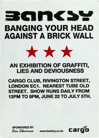Graffiti Writers Operate in this Area Cargo Exhibition Invitation