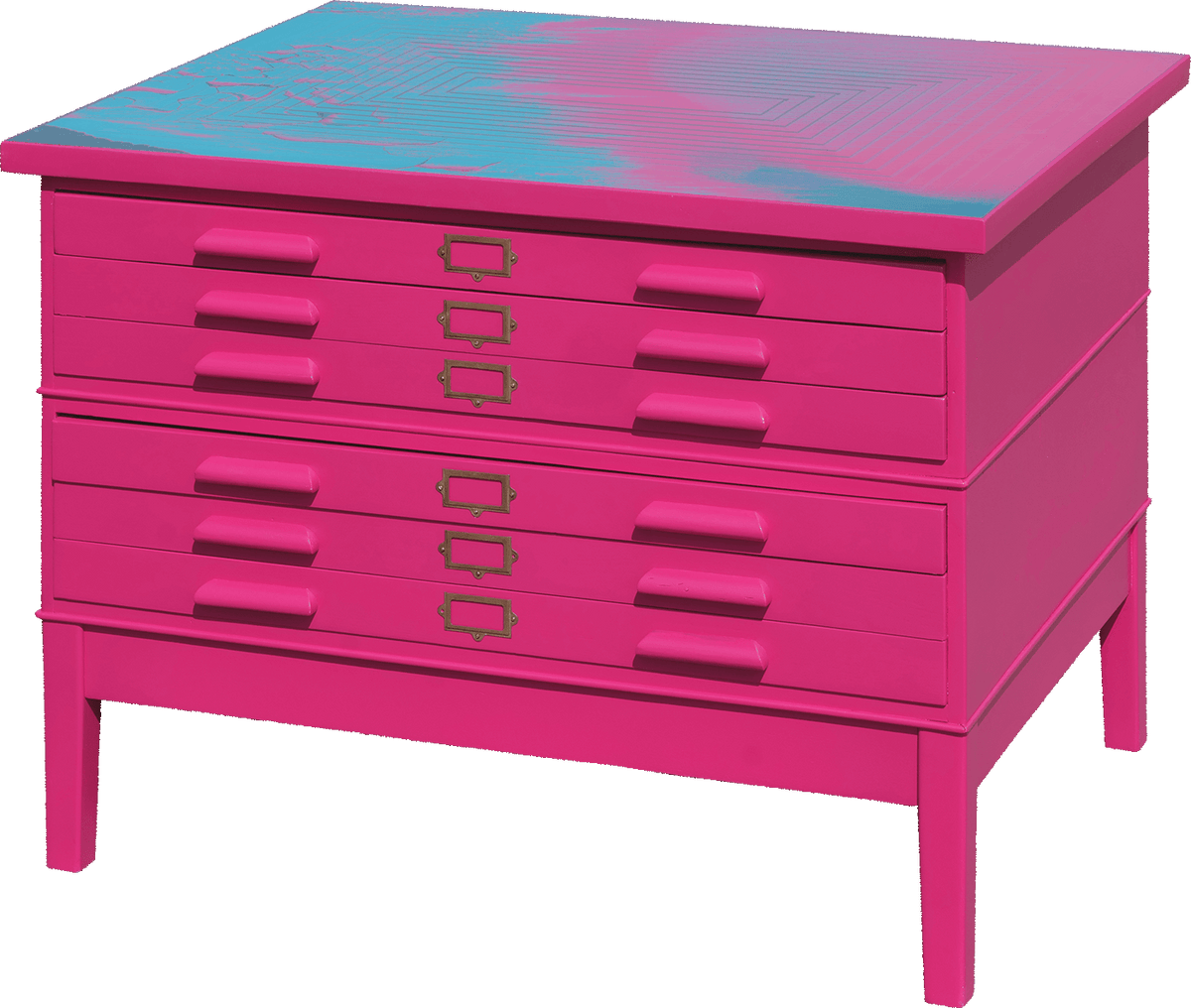 Hot Pink Plans Chest