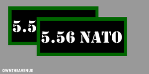 "5.56 Nato Ammo Can Labels for Ammunition Case 3.5"" x1.50"" stickers decals(2PACK)"