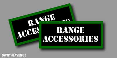 Range Accessories Ammo Can Labels for Ammunition Case stickers decals(2PACK)