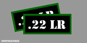 ".22 LR Ammo Can Labels for Ammunition Case 3.5"" x 1.50"" stickers decals(2PACK)"