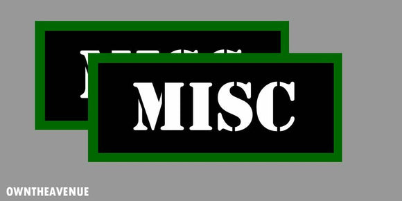 MISC Ammo Can Labels for Ammunition Case 3.5