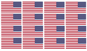 "x12 Reversed American Flag 2"" Helmet USA Vinyl Sticker Decal"