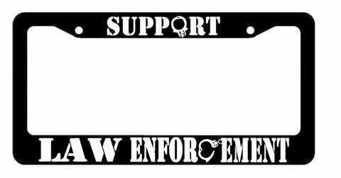 Support Law Enforcement Support Police Patriot Pride License Plate Frame