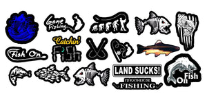 Fishing Bass Fish Vinyl Decal Stickers Pack Lot of 16 Decals Mega